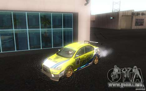 Mitsubishi Lancer Evolution X Gymkhana para GTA San Andreas left