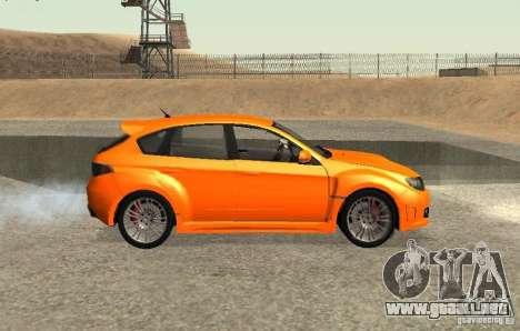 Subaru Impreza WRX STi para GTA San Andreas left