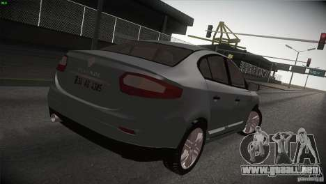 Renault Fluence para GTA San Andreas left