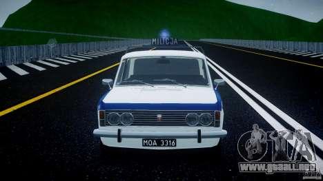 Fiat 125p Polski Milicja para GTA 4 vista superior
