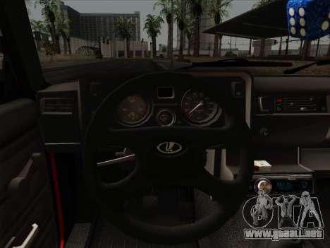VAZ 21054 para vista inferior GTA San Andreas