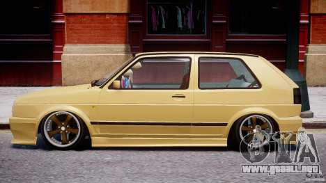 Volkswagen Golf MK2 Tuning para GTA 4 Vista posterior izquierda