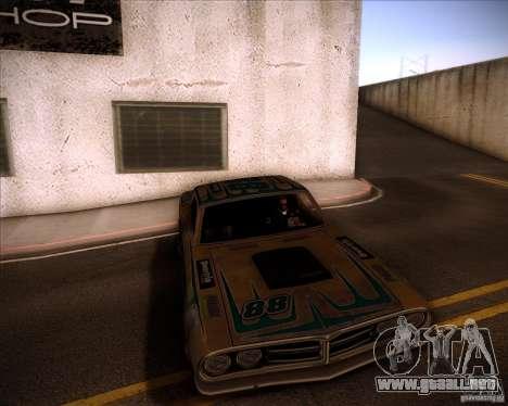 Pontiac Ventura 1971 para GTA San Andreas vista posterior izquierda