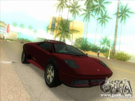 Infernus de GTA IV para GTA Vice City left