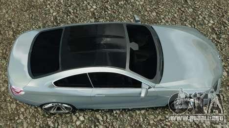 BMW M6 Coupe F12 2013 v1.0 para GTA 4 visión correcta