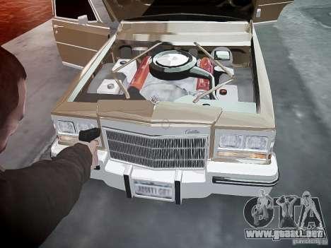 Cadillac Fleetwood 1985 para GTA 4 interior