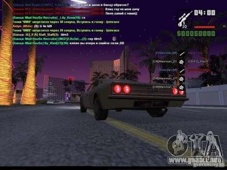 Cielo estrellado v2.0 (para SA: MP) para GTA San Andreas sexta pantalla