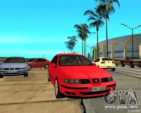 Seat Leon 1.9 TDI para GTA San Andreas vista hacia atrás