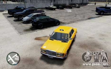 Mercedes-Benz 230 E Taxi para GTA 4 left