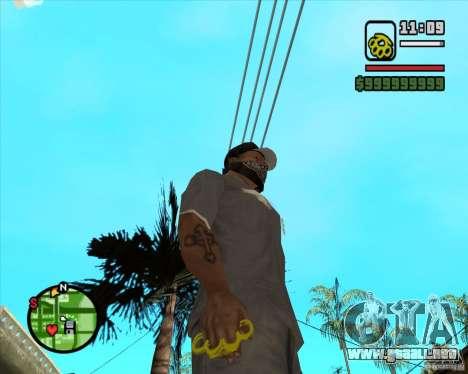 Nudillos de latón dorados para GTA San Andreas segunda pantalla
