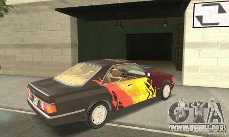Mercedes-Benz W126 560SEC para GTA San Andreas interior