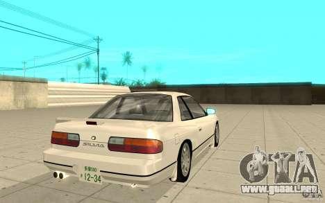 Nissan Silvia S13 para GTA San Andreas vista posterior izquierda