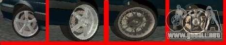 Ruedas para LADA 2114 para GTA San Andreas