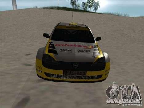 Opel Rally Car para visión interna GTA San Andreas