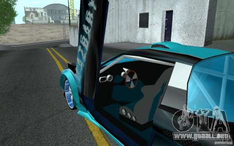 Baby blue Infernus para vista lateral GTA San Andreas