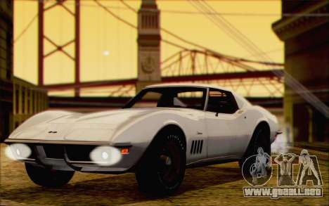 Chevrolet Corvette C3 Stingray T-Top 1969 para GTA San Andreas vista posterior izquierda