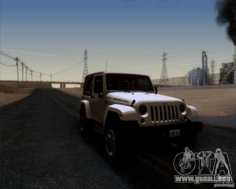 Jeep Wrangler Rubicon para la visión correcta GTA San Andreas