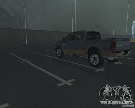 Dodge Ram Hemi para GTA San Andreas vista posterior izquierda