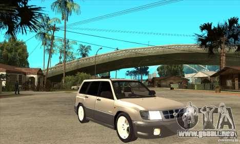 Subaru Forester 1997 año para GTA San Andreas vista hacia atrás