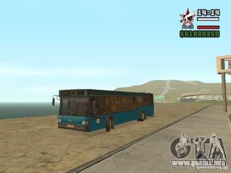 MAZ-103S para GTA San Andreas vista posterior izquierda