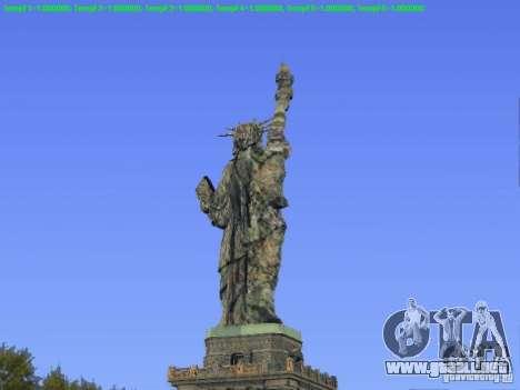Estatua de la libertad de 2013 para GTA San Andreas segunda pantalla