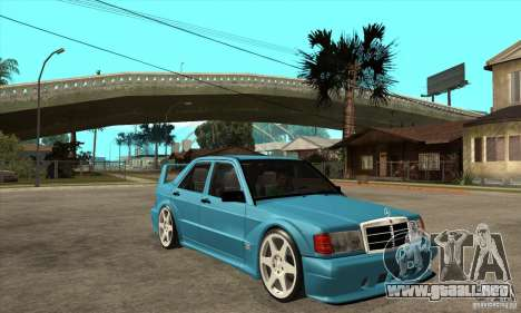 Mercedes-Benz w201 190 2.5-16 Evolution II para GTA San Andreas vista hacia atrás