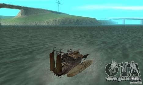 HL2 Airboat para GTA San Andreas left
