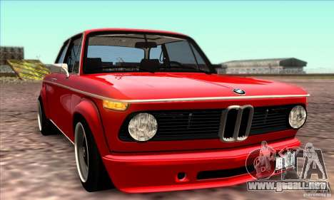 BMW 2002 Turbo para GTA San Andreas interior