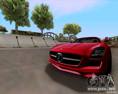 Mercedes-Benz SLS AMG V12 TT Black Revel para GTA San Andreas left