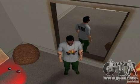 Día verde t-shirt para GTA San Andreas tercera pantalla