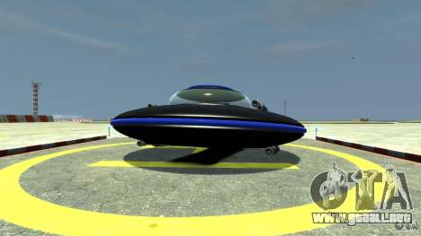 UFO neon ufo blue para GTA 4