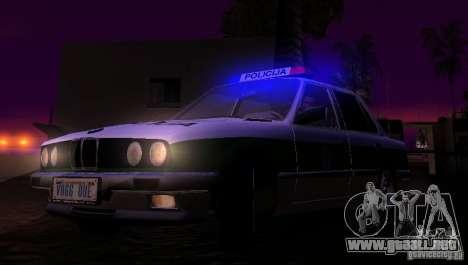 BMW E30 Sedan Police para visión interna GTA San Andreas