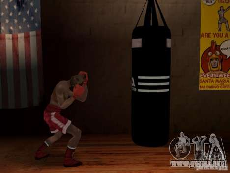 Nuevo saco de boxeo para GTA San Andreas tercera pantalla