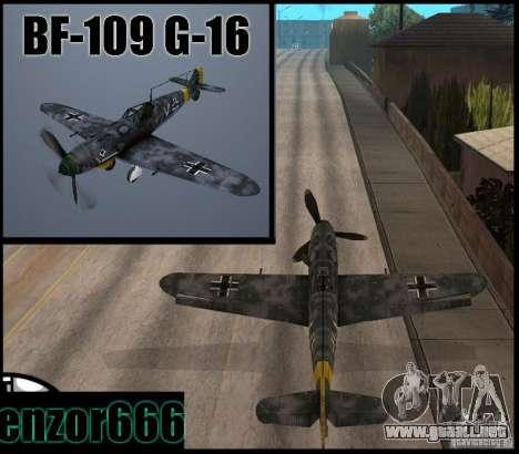 BF-109 G-16 para GTA San Andreas