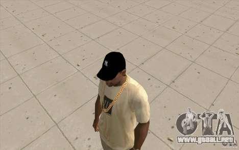 Casquillo newyorkyankiys negro para GTA San Andreas