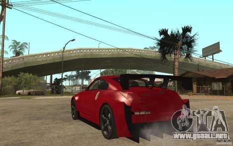 Nissan 350Z Supreme para GTA San Andreas vista posterior izquierda
