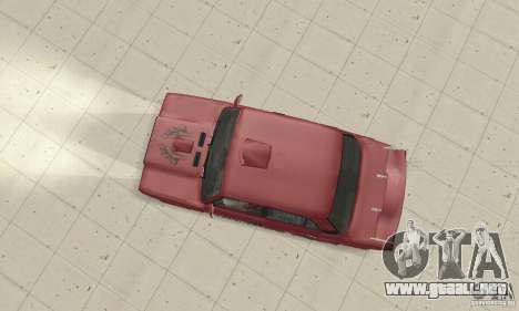 VAZ 2107 Ex Tuning para GTA San Andreas vista posterior izquierda