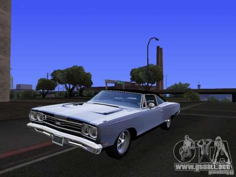 Plymouth GTX 1969 para vista lateral GTA San Andreas