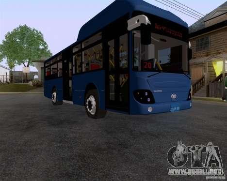 Daewoo Bus BAKU para la visión correcta GTA San Andreas
