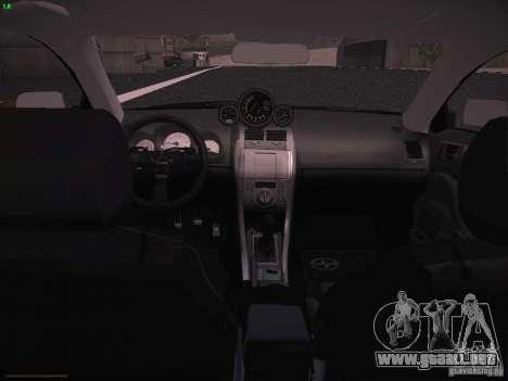 Scion tC para visión interna GTA San Andreas