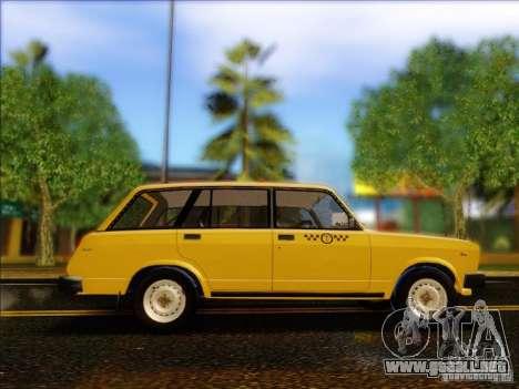 VAZ 2104 Taxi para GTA San Andreas vista hacia atrás