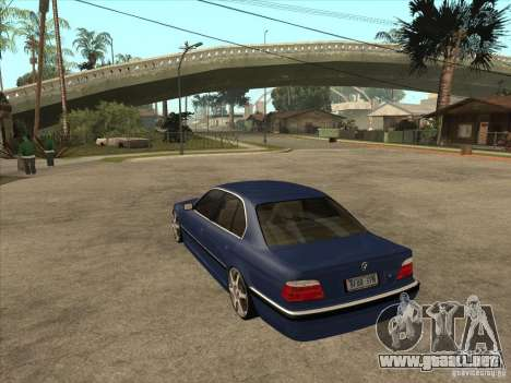 BMW 750i para la visión correcta GTA San Andreas