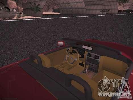 Cadillac XLR 2006 para GTA San Andreas vista hacia atrás