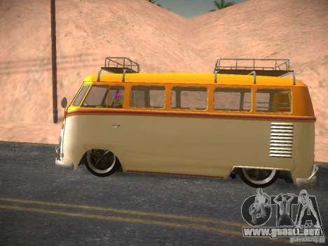 Volkswagen Type 2 Custom para visión interna GTA San Andreas