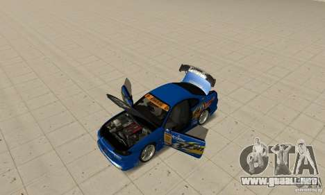 Nissan Silvia INGs +1 para GTA San Andreas vista hacia atrás