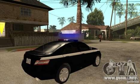 Toyota Camry 2010 SE Police RUS para la visión correcta GTA San Andreas