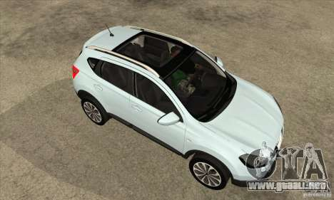 Nissan Qashqai 2011 para visión interna GTA San Andreas