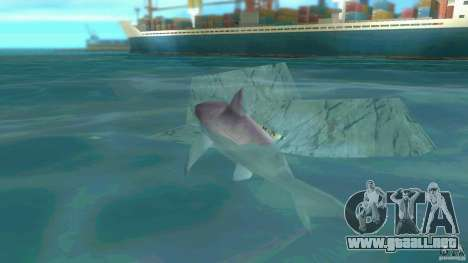 Shark Boat para GTA Vice City vista lateral izquierdo