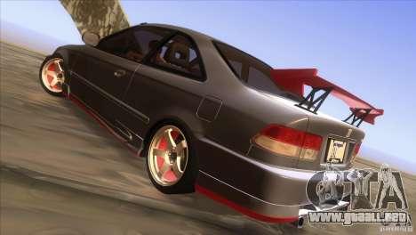 Honda Civic SI para la vista superior GTA San Andreas