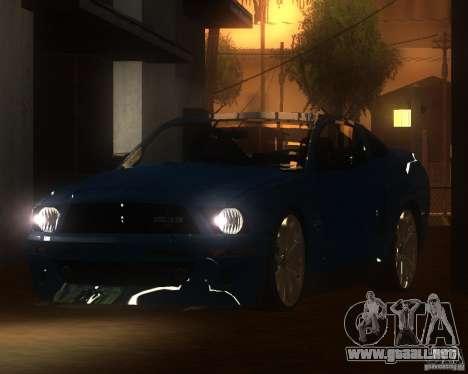 Shelby Mustang 2009 para GTA San Andreas left
